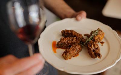 Pollo del Valdarno con i rocchini di sedano
